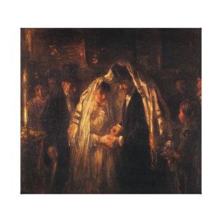 Eine jüdische Hochzeit durch Jozef Israels - circa Leinwanddrucke