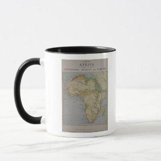 Eine Karte von Afrika, zum der Reisen von David zu Tasse