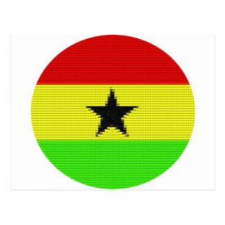 Eine Kreis-ghanaische Flagge Postkarte