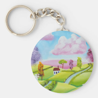 Eine Kuh und ein Schaf Schlüsselanhänger