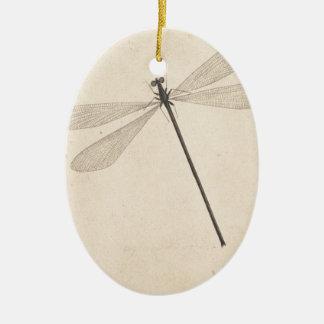 Eine Libelle, durch Nicolaas Struyk, früh 18. C. Ovales Keramik Ornament