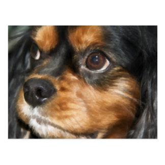Eine loyaler Hundeunbekümmerte Königcharles Postkarte