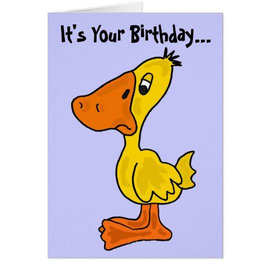Eine lustige Ducky Geburtstags-Karte Grußkarte