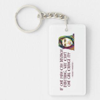 Eine Mädchen-Schlüsselkette Schlüsselanhänger