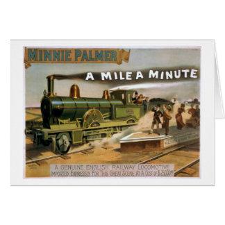 """""""Eine Meile ein winziges"""" Vintages Grußkarte"""
