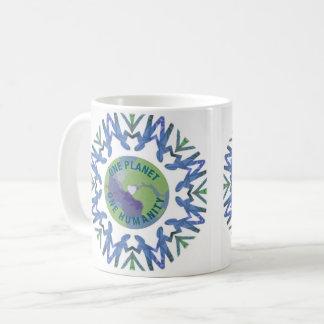 Eine Menschlichkeit des Planeten-einer Kaffeetasse