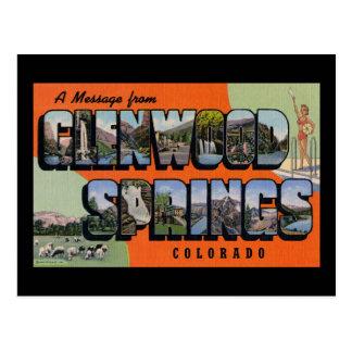Eine Mitteilung von Glenwood Springs Colorado Postkarte
