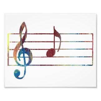 Eine musikalische Anmerkung Photo Druck