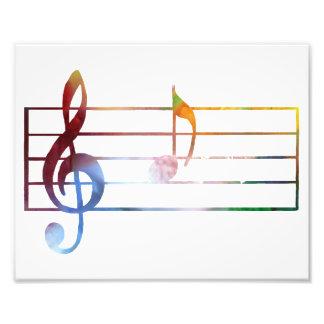 Eine musikalische Anmerkung Photo Drucke
