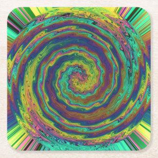 Eine mystische Explosion von Farben Rechteckiger Pappuntersetzer
