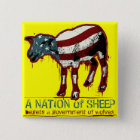 Eine Nation des Schaf-Knopfes Quadratischer Button 5,1 Cm