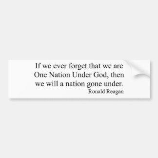 Eine Nation unter Gott Autoaufkleber