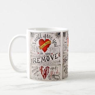 Eine NEUE HERZ Tasse. Ezekiel 36:26 Kaffeetasse