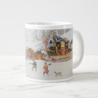 Eine Post im tiefen Schnee Jumbo-Tasse