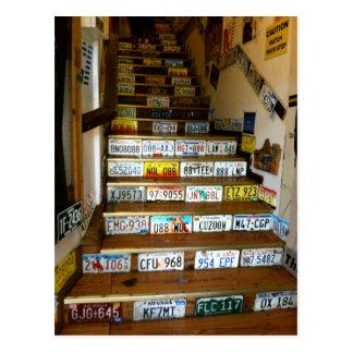 Eine Postkarte der Treppe hergestellt mit