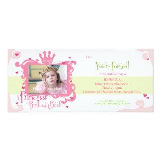 Eine Prinzessin Birthday Bash Invite 10,2 X 23,5 Cm Einladungskarte