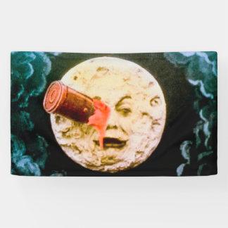 Eine Reise zum La Lune Mond Retro Le Voyage Dans Banner