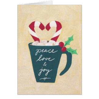 Eine Schale Frieden, Liebe und Freude Grußkarte