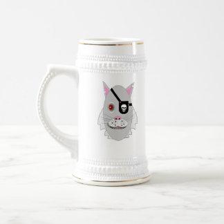Eine schlechte Katze Bierglas
