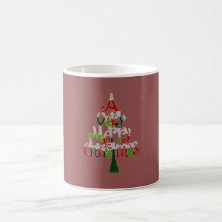 Eine sehr fröhliche Weihnachtsbaum-Kaffee-Tasse Kaffeetasse