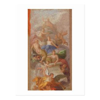 Eine Skizze von Dankbarkeit gekrönt durch Frieden, Postkarte