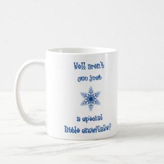 Eine spezielle Schneeflocke-große Tasse