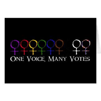 Eine Stimme, viele Stimmen Karte