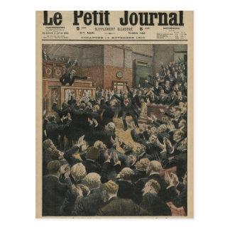 Eine stürmische Sitzung an der Abgeordnetenkammer Postkarte