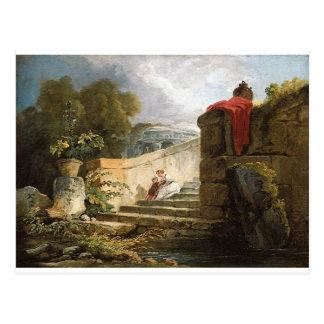 Eine Szene im Boden des Landhauses Farnese, Rom Postkarte