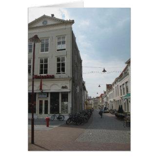 Eine typische niederländische Straße in der Grußkarte
