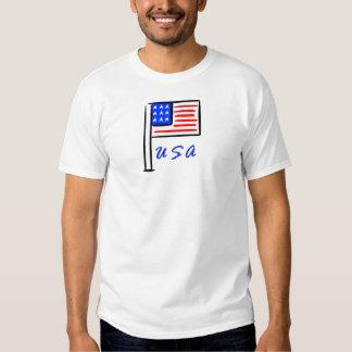 Eine USA-Flagge Hemd
