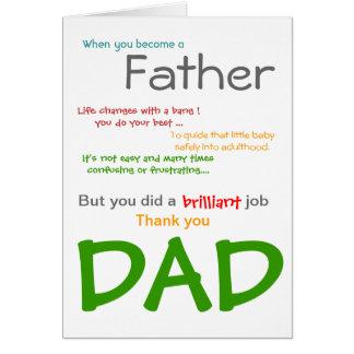 Eine VATI der Vatertags-Karte sein Grußkarte