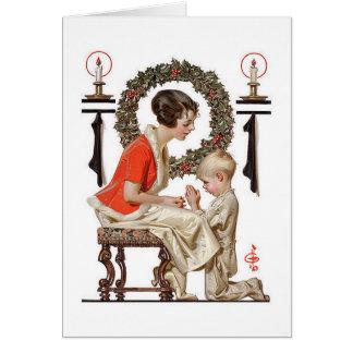 Eine Vintage J.C.Leyendecker Weihnachtskarte Grußkarte