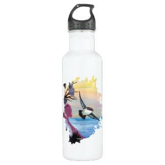 Eine Vogel-Ansicht Edelstahlflasche