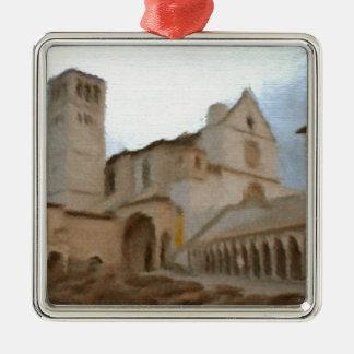 Eine Wasserfarbe der Basilika von St Francis, Silbernes Ornament
