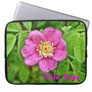Eine wilde Rose Laptop Computer Schutzhülle