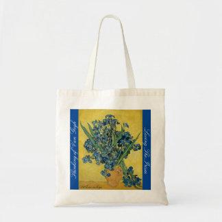 Eine wunderbare Taschentasche mit der Iris Tragetasche