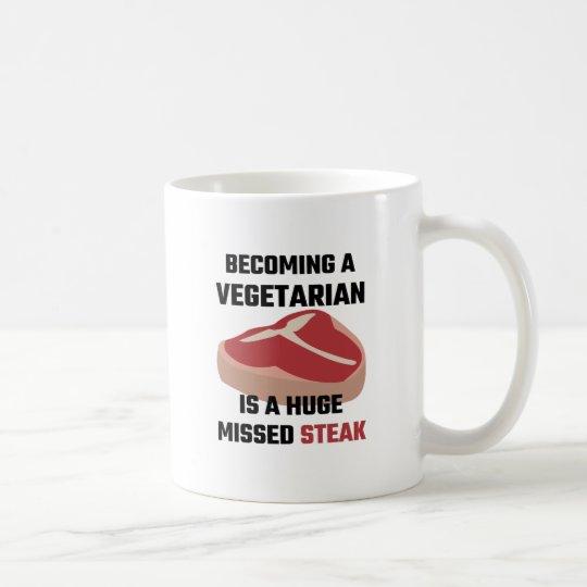 Einem Vegetarier zu stehen ist ein enormes Tasse