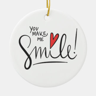 Einfach dennoch hübsch lassen Sie mich lächeln | Keramik Ornament