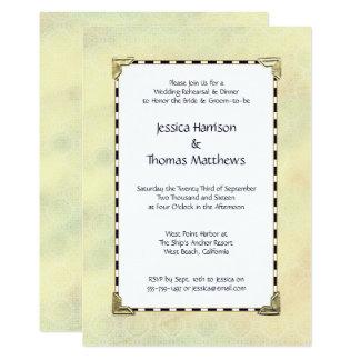 Einfach elegantes Hochzeits-Proben-Abendessen 12,7 X 17,8 Cm Einladungskarte