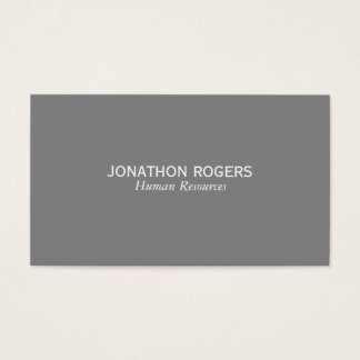 Einfach (grau) visitenkarte