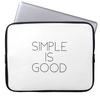 Einfach ist gut laptop sleeve