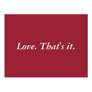 Einfach Liebe Postkarte