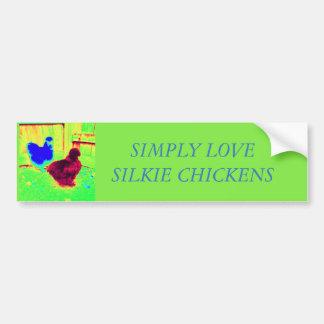 Einfach Liebe silkie Hühner Autoaufkleber