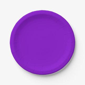 Einfach lila Normallack Pappteller 17,8 Cm