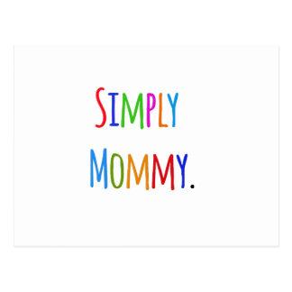 Einfach Mama Postkarte