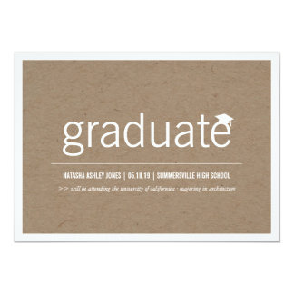 Einfach modernes graduiertes Abschluss-PapierFoto Karte