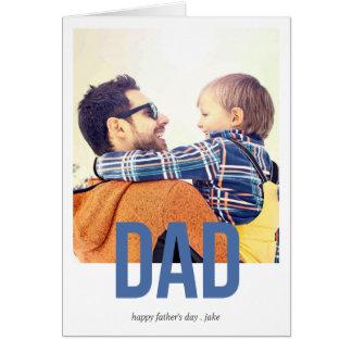 Einfach mutige Gruß-Karte der Vatertag Grußkarte