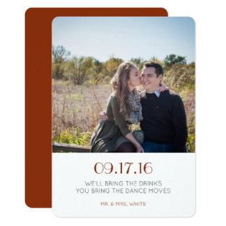 Einfach Save the Date 12,7 X 17,8 Cm Einladungskarte