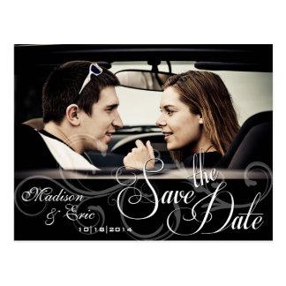 Einfach Save the Date mit Foto der Paare Postkarte